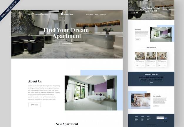 Modelo de página de destino de aluguel de imóveis e apartamentos Psd Premium