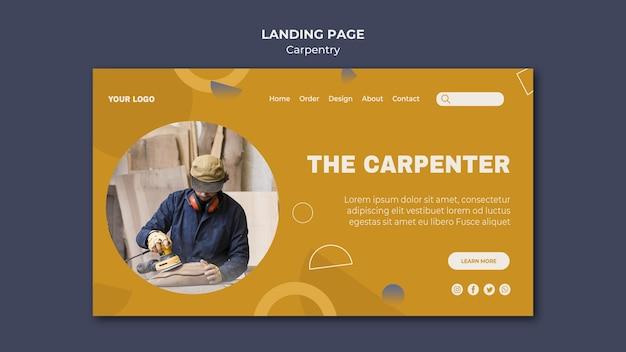 Modelo de página de destino de anúncio carpenter Psd grátis