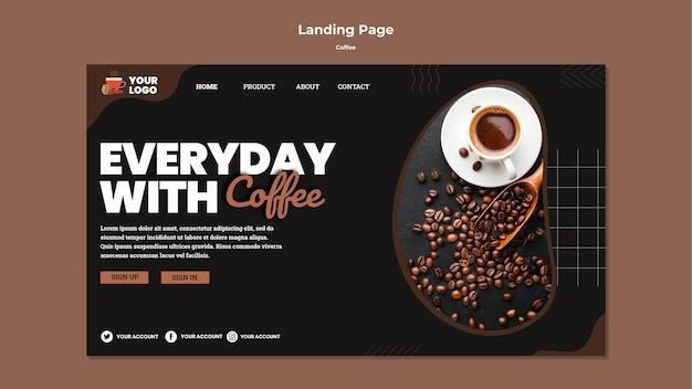 Modelo de página de destino de café delicioso Psd grátis