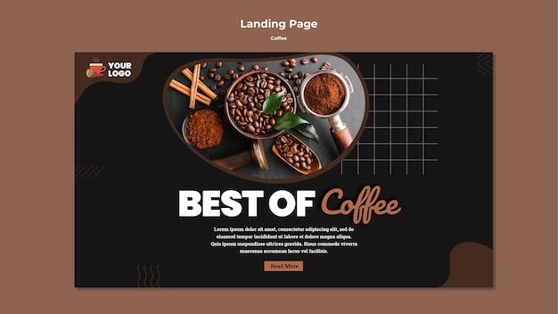 Modelo de página de destino de café saboroso Psd grátis