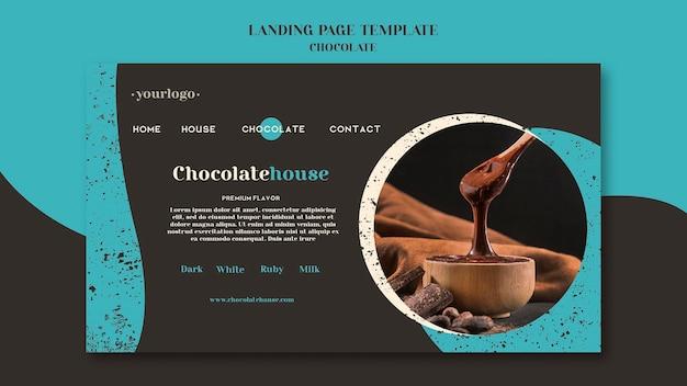 Modelo de página de destino de casa de chocolate Psd grátis