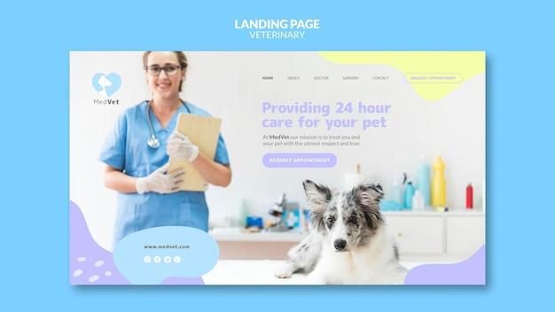 Modelo de página de destino de clínica veterinária Psd Premium