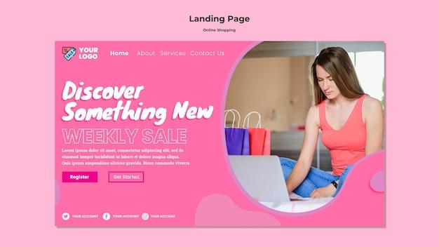 Modelo de página de destino de compras online Psd Premium