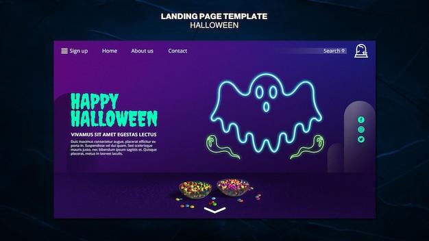 Modelo de página de destino de evento de halloween Psd Premium