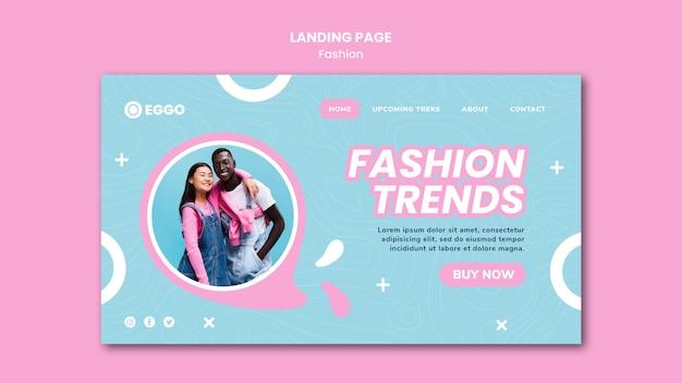 Modelo de página de destino de loja de moda Psd grátis