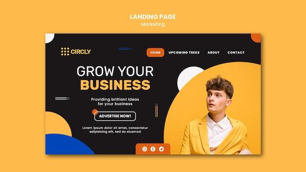 Modelo de página de destino de marketing digital Psd grátis