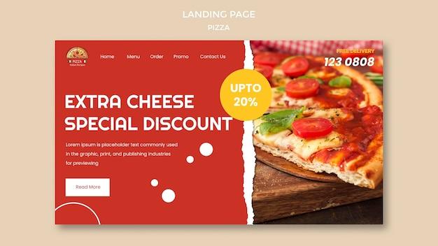 Modelo de página de destino de pizzaria Psd grátis