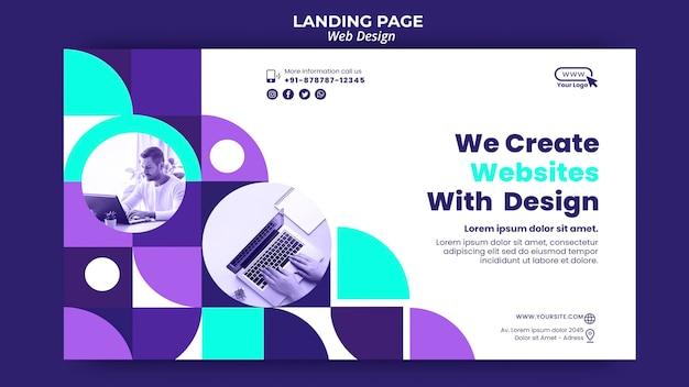 Modelo de página de destino de web design Psd Premium