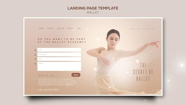 Modelo de página de destino do conceito de bailarina Psd grátis