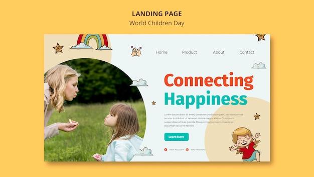 Modelo de página de destino do dia mundial da criança Psd grátis