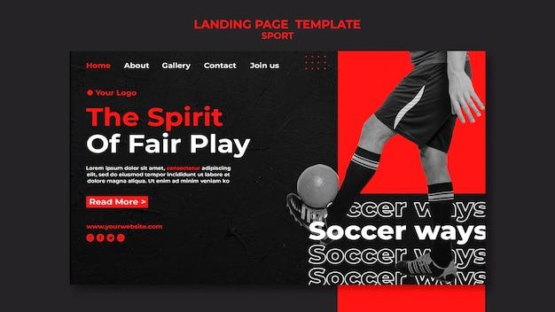 Modelo de página de destino do espírito de jogo limpo Psd grátis