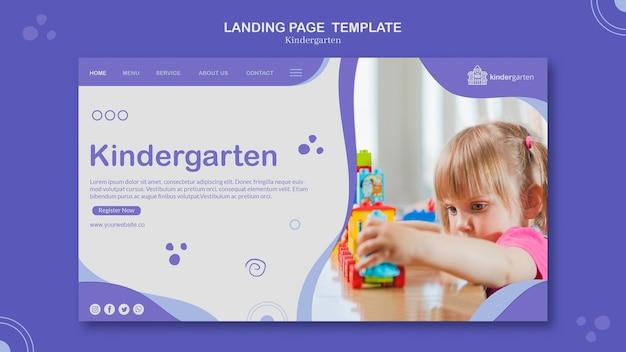 Modelo de página de destino do jardim de infância Psd grátis