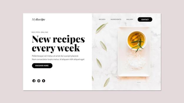 Modelo de página de destino para aprender receitas de culinária Psd grátis