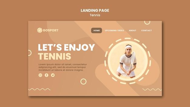 Modelo de página de destino para jogar tênis Psd grátis