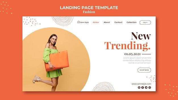 Modelo de página de destino para loja de compras de moda Psd grátis
