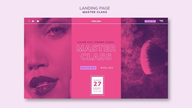 Modelo de página de destino para masterclass Psd grátis