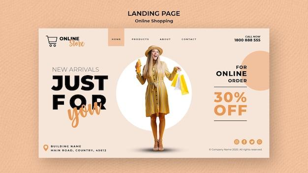 Modelo de página de destino para venda de moda on-line Psd grátis