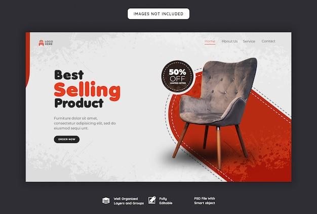 Modelo de página de destino web venda de móveis Psd Premium