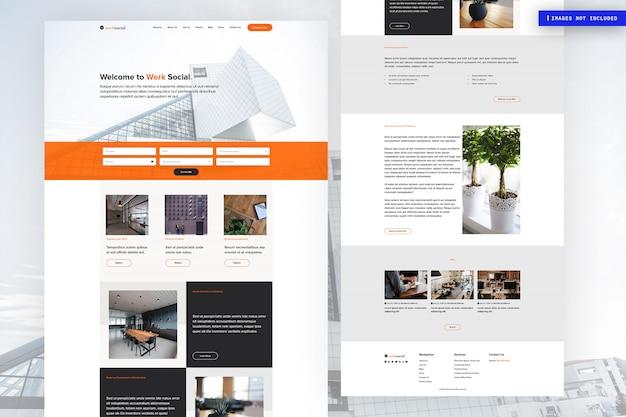 Modelo de página de site multiuso Psd Premium