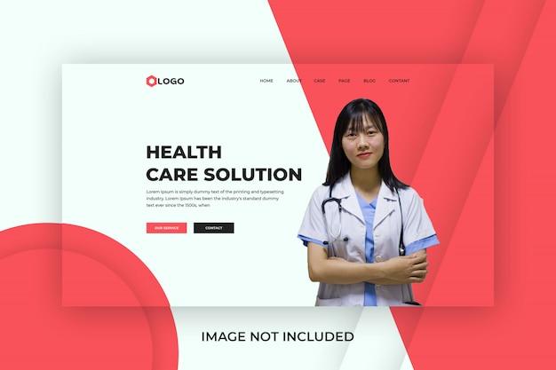 Modelo de página inicial de assistência médica médica premium Psd Premium