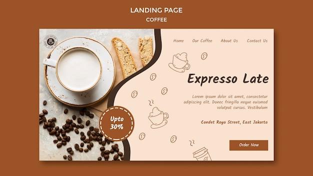 Modelo de página inicial de cafeteria Psd grátis