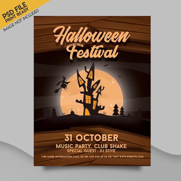 Modelo de panfleto de halloween Psd Premium