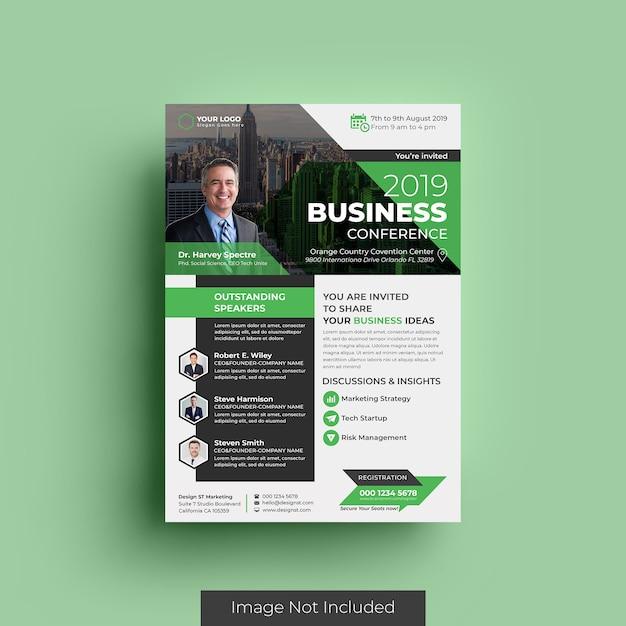 Modelo de panfleto de negócios Psd Premium