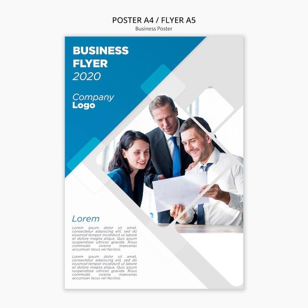 Modelo de panfleto de negócios Psd grátis