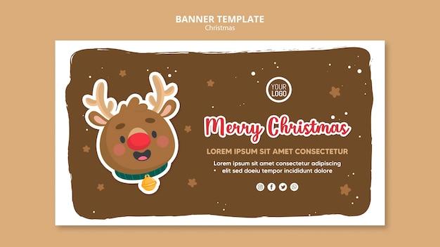 Modelo de panfleto quadrado de anúncio de feliz natal Psd Premium