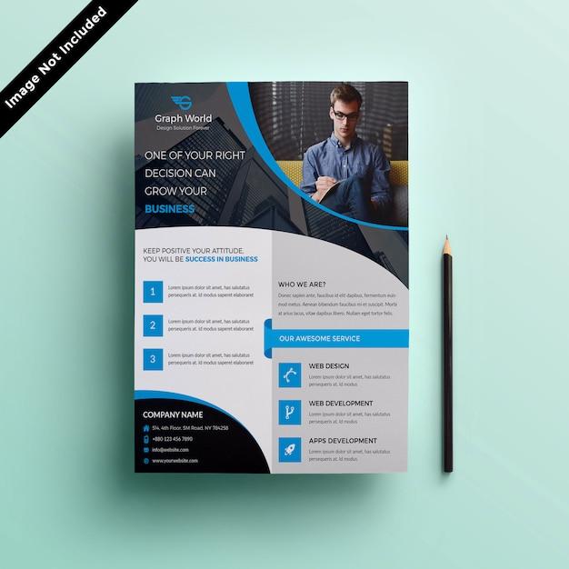Modelo de panfleto Psd Premium