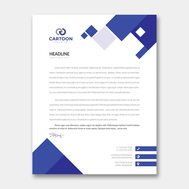 Modelo de papel timbrado Psd Premium