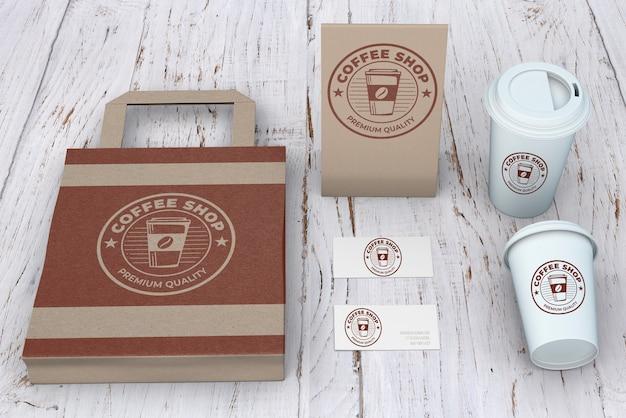 Modelo de papelaria para cafeteria Psd grátis