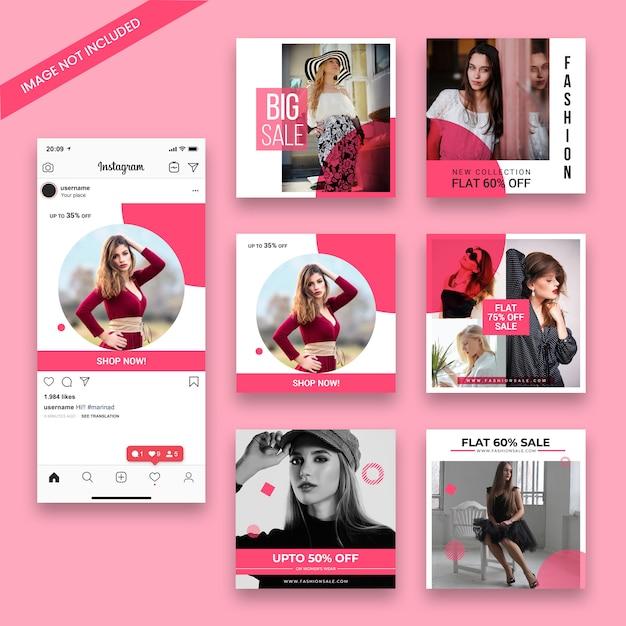Modelo de post de moda venda instagram Psd Premium