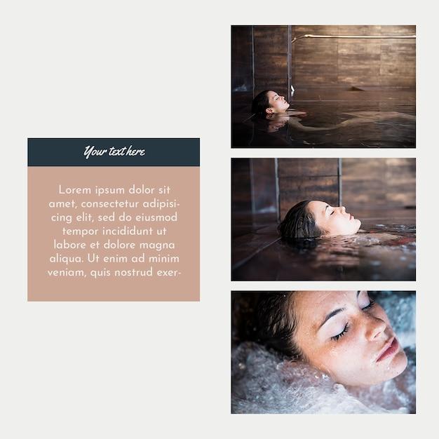 Modelo de post do instagram com conceito de spa Psd grátis