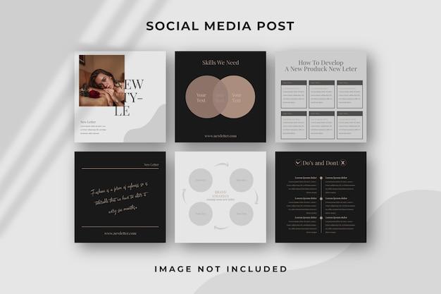 Modelo de post instagram de mídia social quadrada Psd Premium