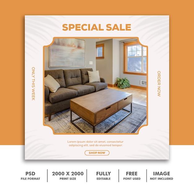 Modelo de postagem de mídia social banner quadrado Psd Premium