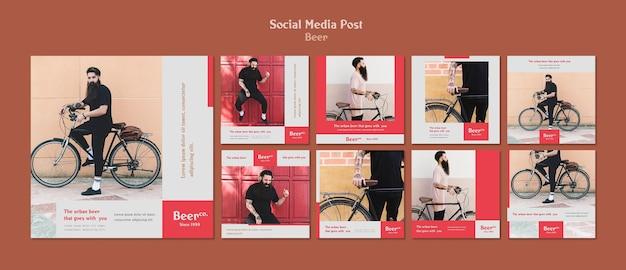 Modelo de postagem de mídia social beard Psd Premium