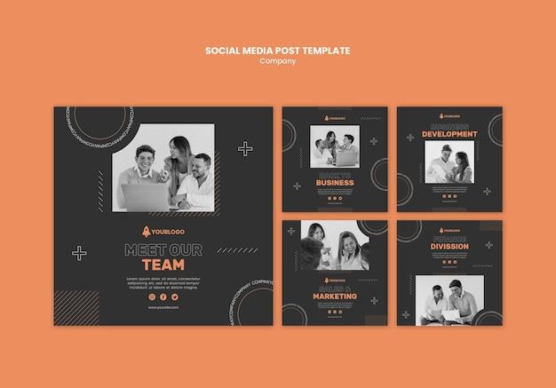 Modelo de postagem de mídia social da empresa Psd grátis