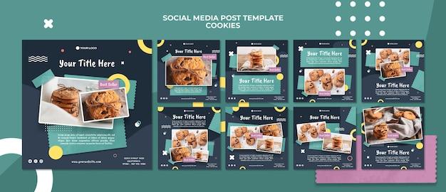 Modelo de postagem de mídia social da loja de biscoitos Psd Premium