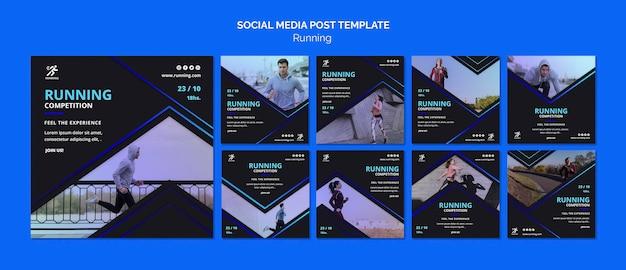 Modelo de postagem de mídia social de competição Psd Premium