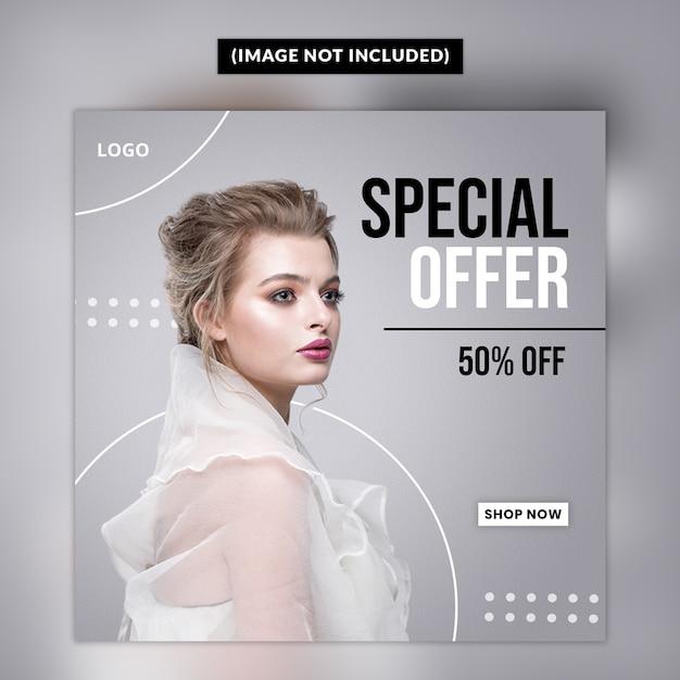 Modelo de postagem de mídia social de moda Psd Premium