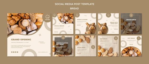 Modelo de postagem de mídia social de padaria de inauguração Psd Premium