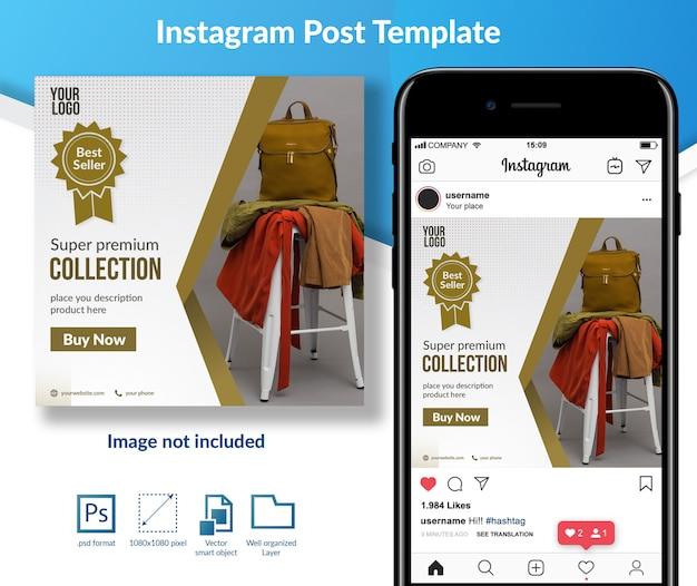 Modelo de postagem de mídia social de roupa premium Psd Premium