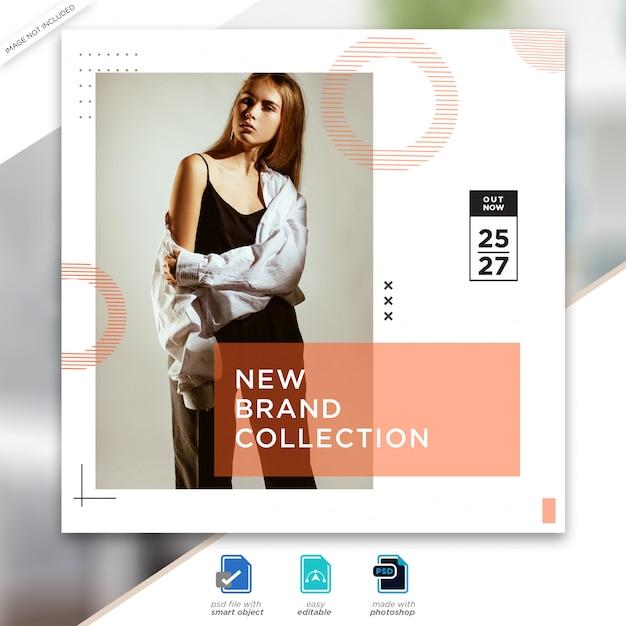 Modelo de postagem de mídia social de venda de moda Psd Premium