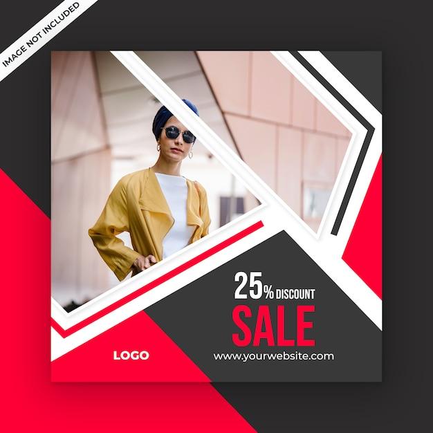 Modelo de postagem de mídia social de venda Psd Premium