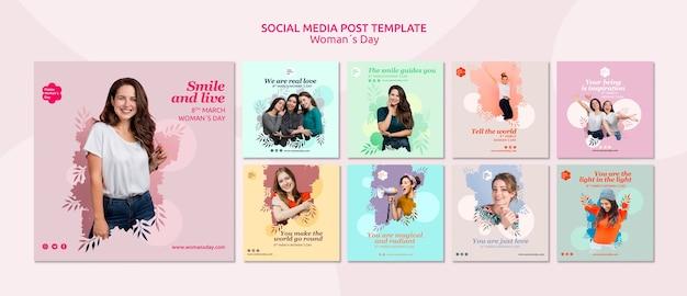 Modelo de postagem de mídia social do dia das mulheres Psd grátis