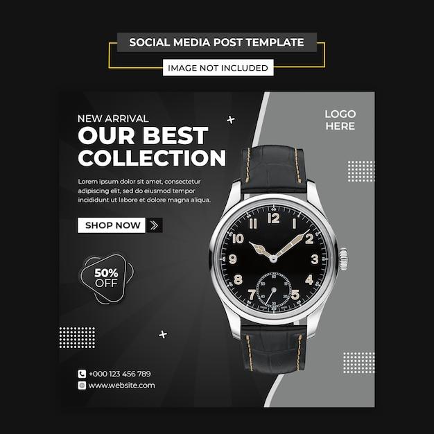 Modelo de postagem de mídia social moderna e instagram Psd Premium