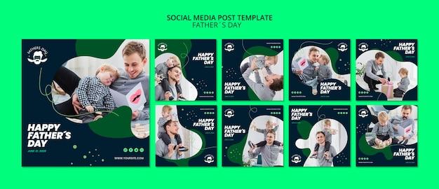 Modelo de postagem de mídia social para evento do dia dos pais Psd Premium