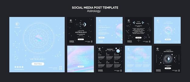 Modelo de postagem de mídias sociais de astrologia Psd grátis