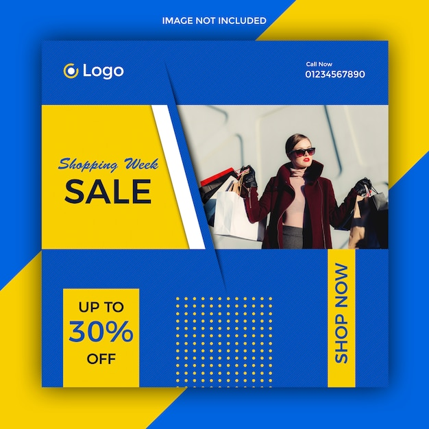 Modelo de postagem de venda de mídia social Psd Premium